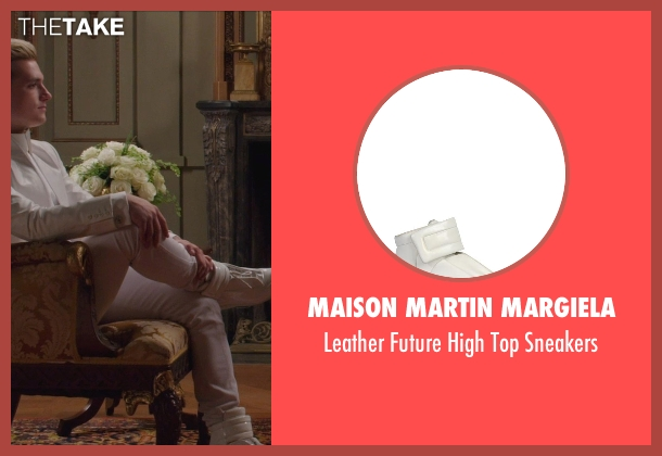 Maison Martin Margiela white sneakers from The Hunger Games: Mockingjay Part 1 seen with Josh Hutcherson (Peeta Mellark)