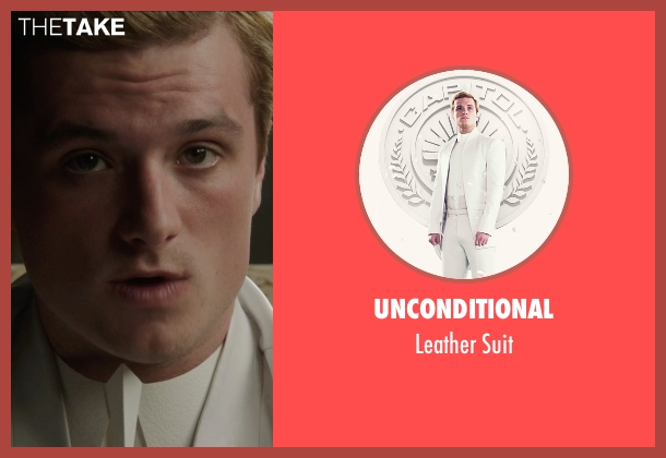 Unconditional white suit from The Hunger Games: Mockingjay Part 1 seen with Josh Hutcherson (Peeta Mellark)