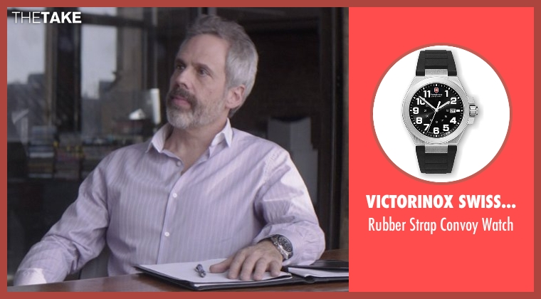 Victorinox Swiss Army black watch from That Awkward Moment seen with Josh Pais (Fred)