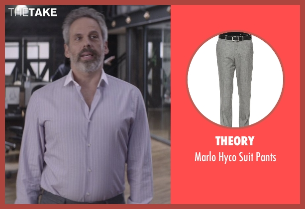 Theory gray pants from That Awkward Moment seen with Josh Pais (Fred)