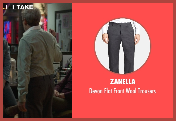Zanella gray trousers from That Awkward Moment seen with Josh Pais (Fred)