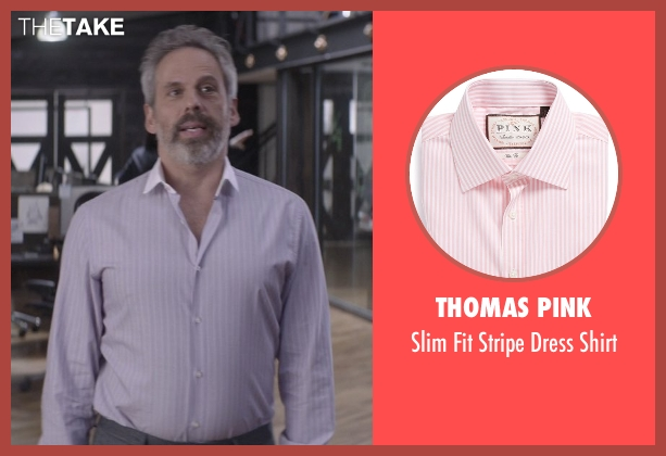 Thomas Pink white shirt from That Awkward Moment seen with Josh Pais (Fred)