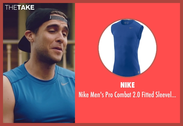 Nike blue shirt from Trainwreck seen with Josh Segarra (Staten Island Oli)