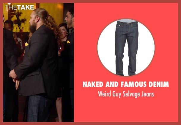 Naked and Famous Denim blue jeans from Pitch Perfect 2 seen with Josh Sitton (Football Player)