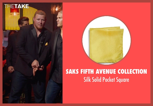 Saks Fifth Avenue Collection yellow square from Pitch Perfect 2 seen with Josh Sitton (Football Player)