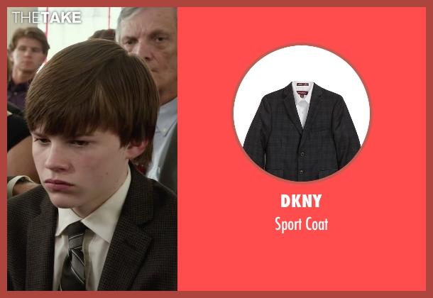 DKNY black coat from Max seen with Josh Wiggins (Justin Wincott)