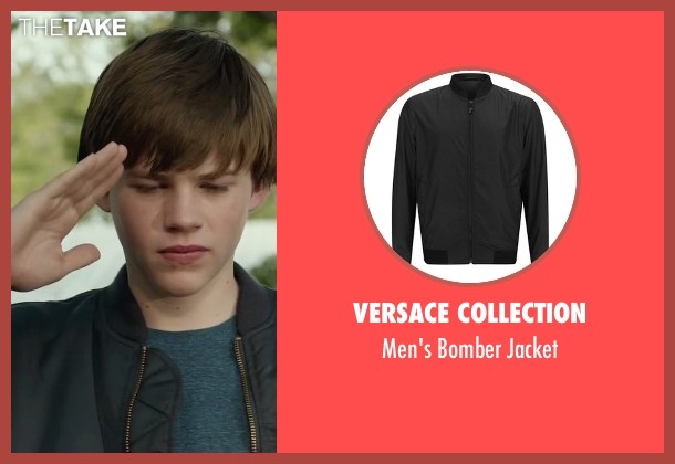 Versace Collection black jacket from Max seen with Josh Wiggins (Justin Wincott)