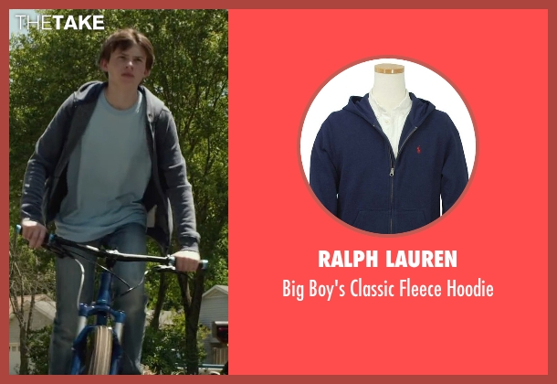Ralph Lauren blue hoodie from Max seen with Josh Wiggins (Justin Wincott)