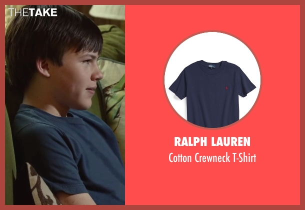 Ralph Lauren blue t-shirt from Max seen with Josh Wiggins (Justin Wincott)