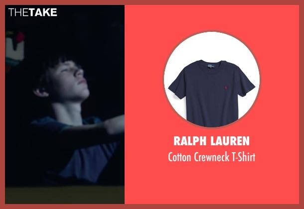 Ralph Lauren blue t-shirt from Max seen with Josh Wiggins (Justin Wincott)