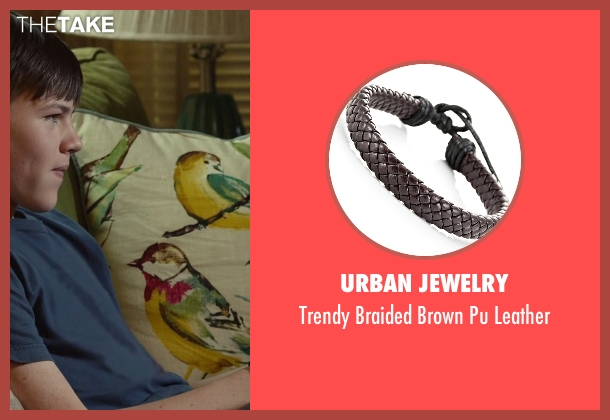 Urban Jewelry brown leather from Max seen with Josh Wiggins (Justin Wincott)