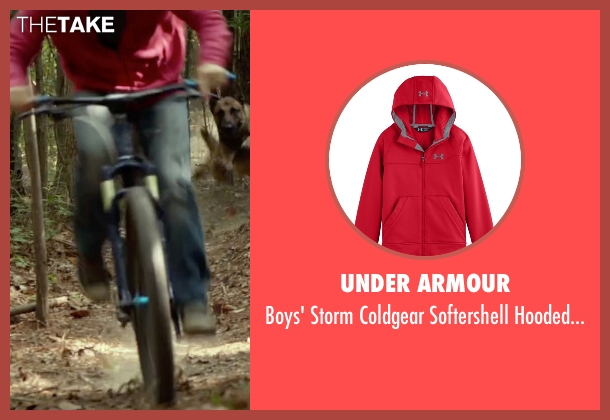 Under Armour red jacket from Max seen with Josh Wiggins (Justin Wincott)