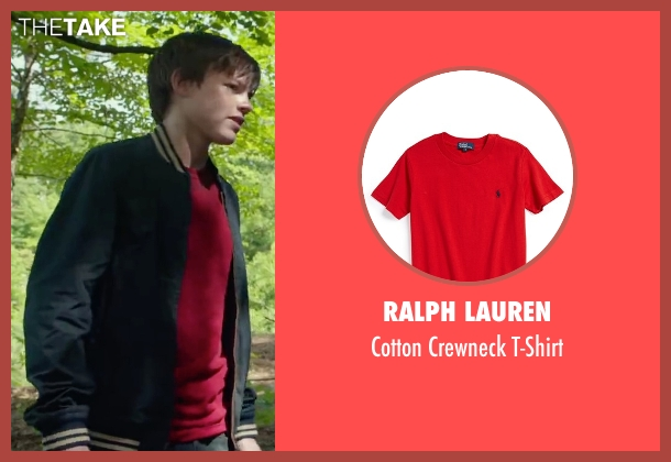 Ralph Lauren red t-shirt from Max seen with Josh Wiggins (Justin Wincott)