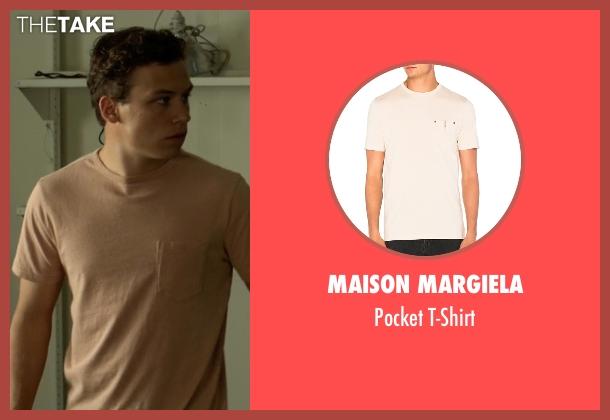 Maison Margiela beige t-shirt from Animal Kingdom seen with Joshua 'J' Cody (Finn Cole)