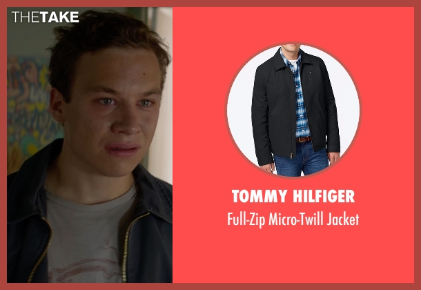 Tommy Hilfiger black jacket from Animal Kingdom seen with Joshua 'J' Cody (Finn Cole)