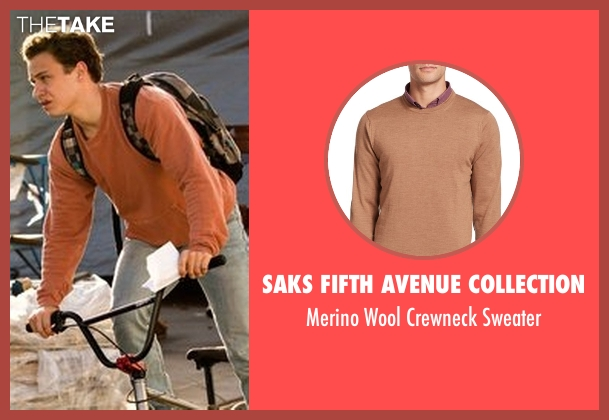 Saks Fifth Avenue Collection  brown sweater from Animal Kingdom seen with Joshua 'J' Cody (Finn Cole)