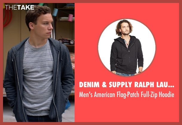 Denim & Supply Ralph Lauren gray hoodie from Animal Kingdom seen with Joshua 'J' Cody (Finn Cole)