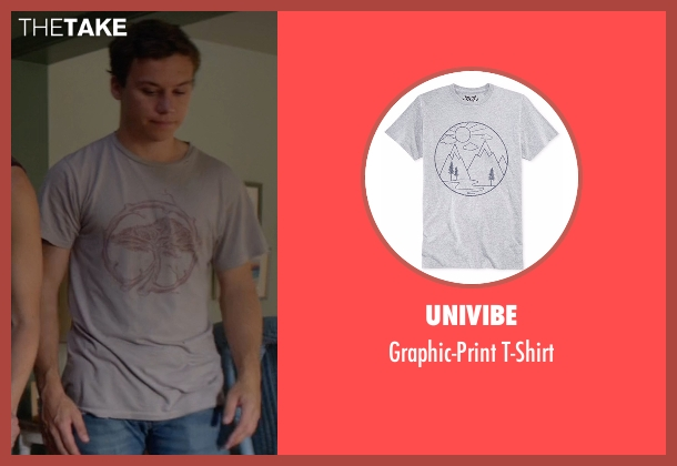 Univibe gray t-shirt from Animal Kingdom seen with Joshua 'J' Cody (Finn Cole)