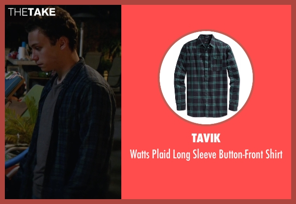 Tavik green shirt from Animal Kingdom seen with Joshua 'J' Cody (Finn Cole)