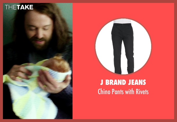 J Brand Jeans black rivets from If I Stay seen with Joshua Leonard (Denny Hall)