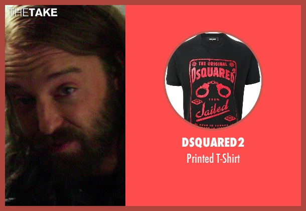 Dsquared2 black t-shirt from If I Stay seen with Joshua Leonard (Denny Hall)