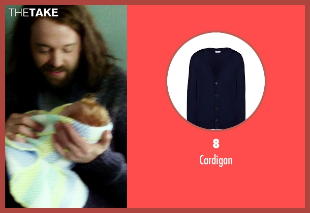 8 blue cardigan from If I Stay seen with Joshua Leonard (Denny Hall)