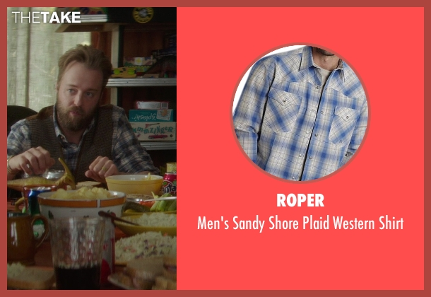 Roper blue shirt from If I Stay seen with Joshua Leonard (Denny Hall)