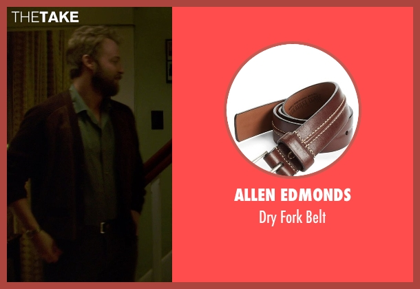 Allen Edmonds brown belt from If I Stay seen with Joshua Leonard (Denny Hall)