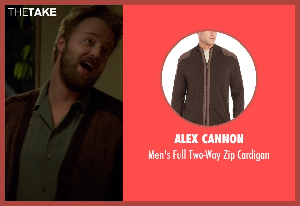 Alex Cannon brown cardigan from If I Stay seen with Joshua Leonard (Denny Hall)