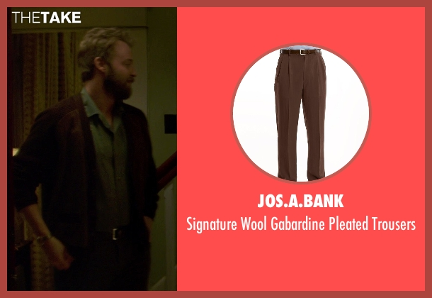 Jos.A.Bank brown trousers from If I Stay seen with Joshua Leonard (Denny Hall)