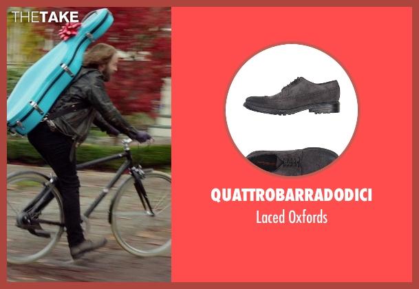 Quattrobarradodici gray oxfords from If I Stay seen with Joshua Leonard (Denny Hall)