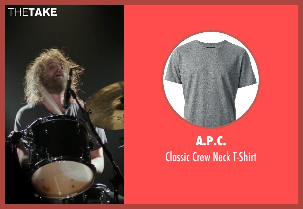 A.P.C. gray t-shirt from If I Stay seen with Joshua Leonard (Denny Hall)