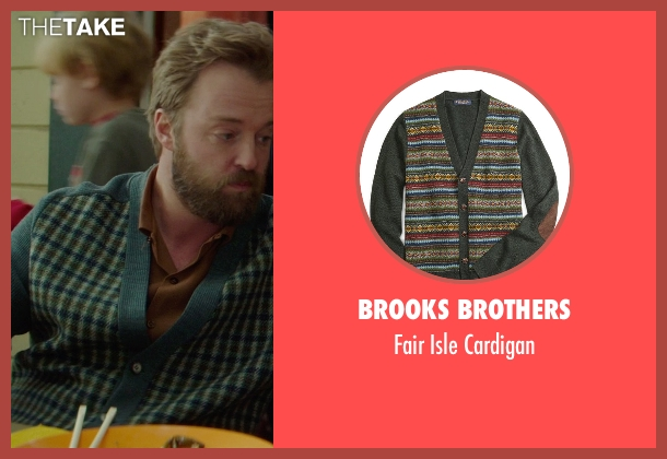 Brooks Brothers green cardigan from If I Stay seen with Joshua Leonard (Denny Hall)
