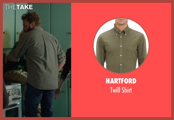 Hartford green shirt from If I Stay seen with Joshua Leonard (Denny Hall)
