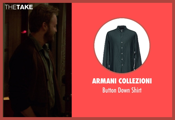 Armani Collezioni green shirt from If I Stay seen with Joshua Leonard (Denny Hall)