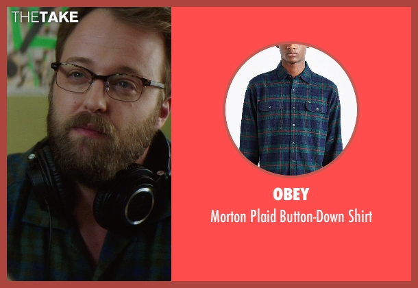 Obey green shirt from If I Stay seen with Joshua Leonard (Denny Hall)