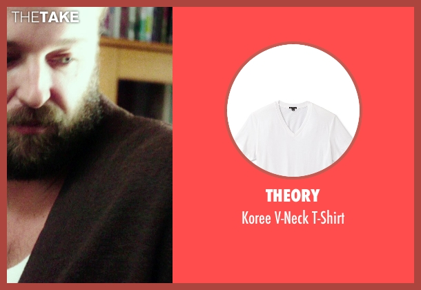 Theory white t-shirt from If I Stay seen with Joshua Leonard (Denny Hall)