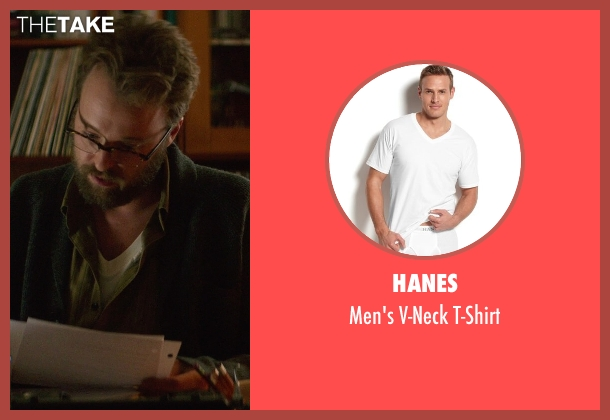 Hanes white t-shirt from If I Stay seen with Joshua Leonard (Denny Hall)