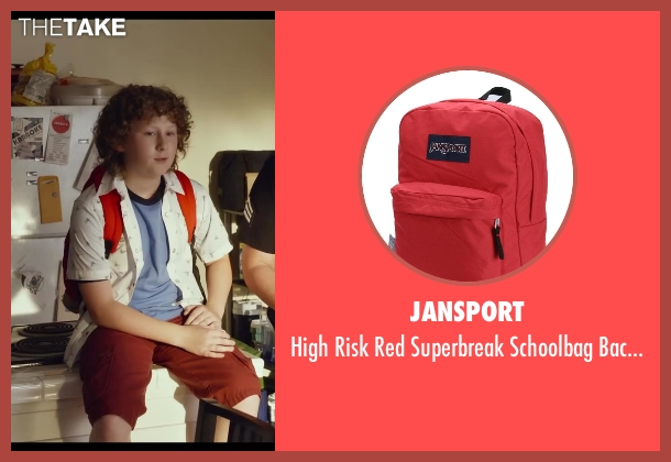 Jansport red bag from Let's Be Cops seen with Joshua Ormond (Little Joey)