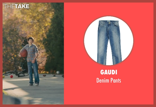 Gaudi blue pants from Paper Towns seen with Josiah Cerio (Young Quentin)