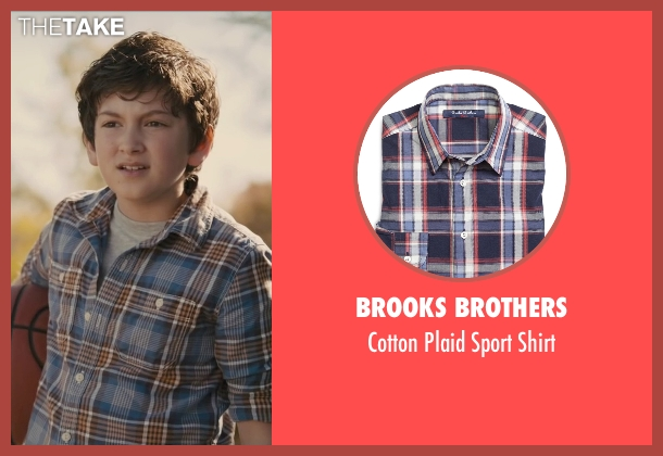 Brooks Brothers blue shirt from Paper Towns seen with Josiah Cerio (Young Quentin)