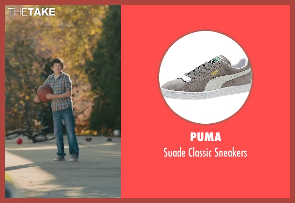 Puma gray sneakers from Paper Towns seen with Josiah Cerio (Young Quentin)