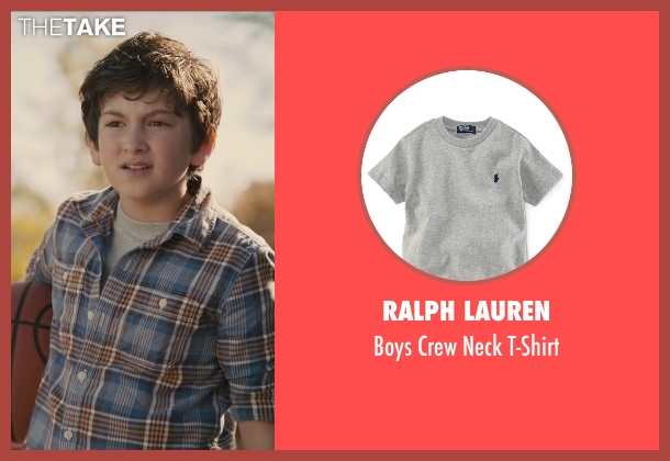 Ralph Lauren gray t-shirt from Paper Towns seen with Josiah Cerio (Young Quentin)