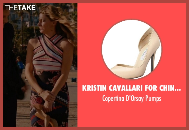 Kristin Cavallari for Chinese Laundry beige pumps from Mistresses seen with Josslyn Carver (Jes Macallan)