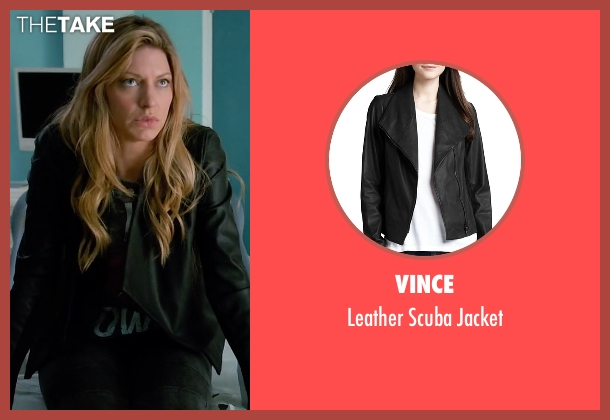 Vince black jacket from Mistresses seen with Josslyn Carver (Jes Macallan)