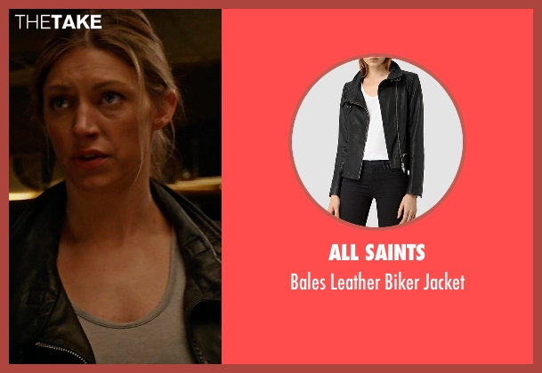 All Saints black jacket from Mistresses seen with Josslyn Carver (Jes Macallan)