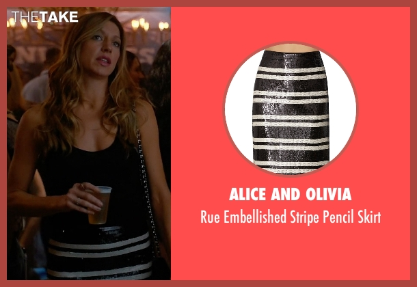 Alice and Olivia black skirt from Mistresses seen with Josslyn Carver (Jes Macallan)