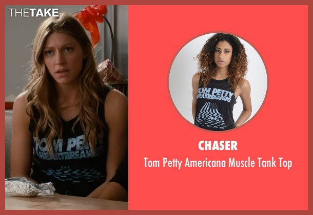 Chaser black top from Mistresses seen with Josslyn Carver (Jes Macallan)
