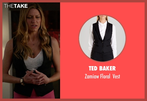 Ted Baker black vest from Mistresses seen with Josslyn Carver (Jes Macallan)