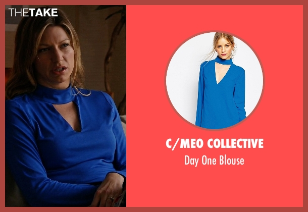 C/meo Collective blue blouse from Mistresses seen with Josslyn Carver (Jes Macallan)